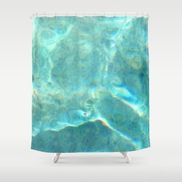 glittering pool: first in a series Shower Curtain