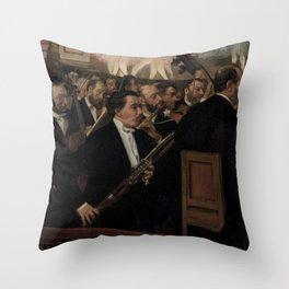 Edgar Degas - L'Orchestre de l'Opéra.jpg Throw Pillow