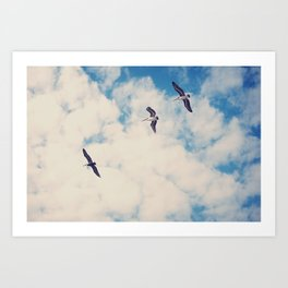 Flying Over Seas Art Print