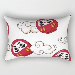 Cute Daruma Pattern Rectangular Pillow