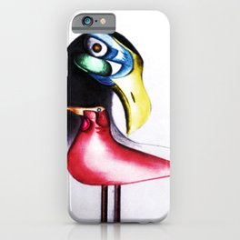 African American Masterpiece 'I Am Not A Mockingbird' portrait painting by E.J.Martin iPhone Case