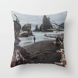 Olympic Coastline Throw Pillow