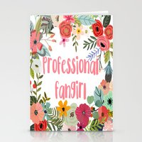 fangirl Stationery Cards featuring Professional Fangirl by Meleika