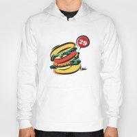 hamburger Hoodies featuring Hamburger by skyboysv