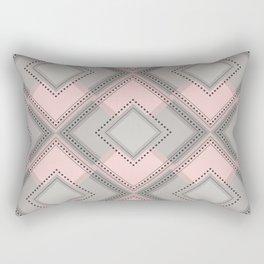 Floor Like Diamond Geometric Design Rectangular Pillow