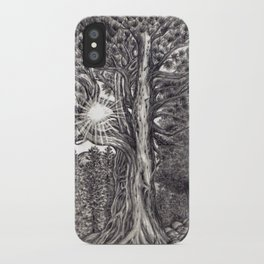 Black and White 1 iPhone Case