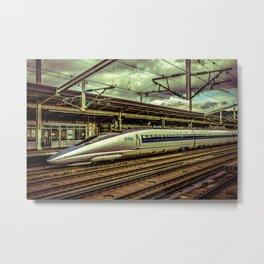 Fast Speed Train, Osaka, Japan Metal Print