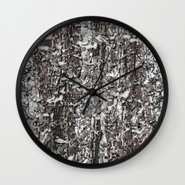 Realistic Winter Woodlands Forest 3D Camo Pattern Wall Clock