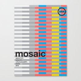 mosaic color variant (2018) Canvas Print