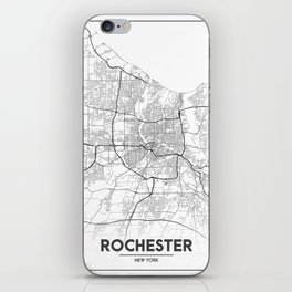 Minimal City Maps - Map Of Rochester, New York, Untited States iPhone Skin