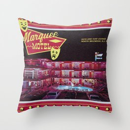 Marquee Motel in North Wildwood, New Jersey. 1960's Throw Pillow