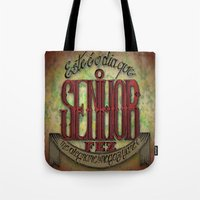 lettering Tote Bags featuring Lettering by MarcosDevelop
