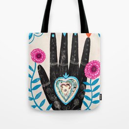 Heart in your hand Tote Bag