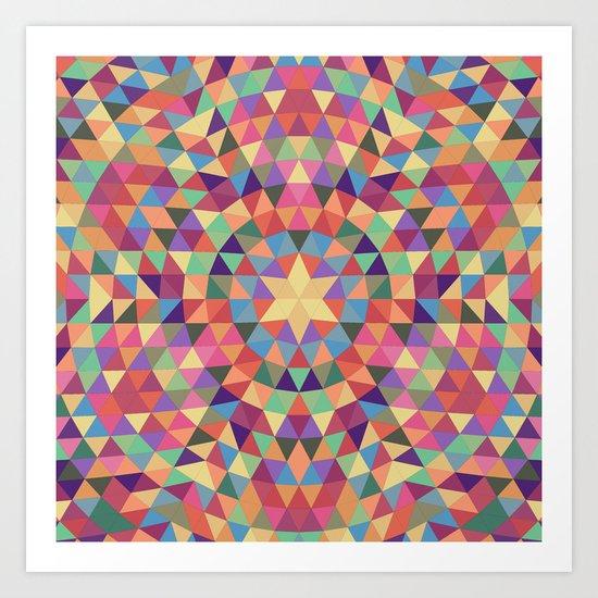 Happy triangle mandala Art Print