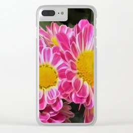 Fleurette Daisies WC 2 Clear iPhone Case