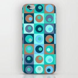 Circles and Squares Pattern 3 iPhone Skin