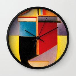 Alexej von Jawlensky - Abstrakter Kopf Sonne, Farbe, Leben - Abstract Head Sun, Color, Life Wall Clock
