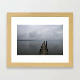 Lake Chiemsee In A Mist Framed Art Print