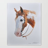 western Canvas Prints featuring Western Horse by Natalia Elina