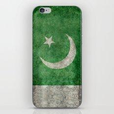 Pakistani flag, vintage retro style iPhone & iPod Skin