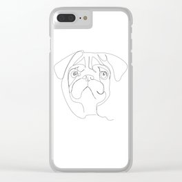 continuous pug Clear iPhone Case