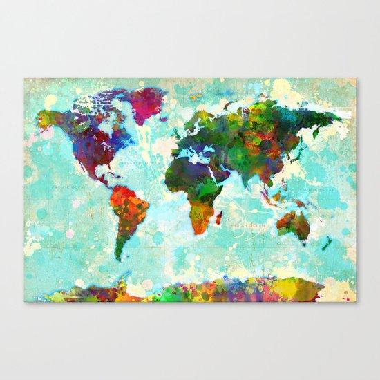 World Map - 1 Canvas Print