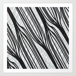 Zebra Stripe Geometric Art Print