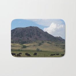 Cattle at Bear Butte Bath Mat