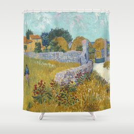 Vincent van Gogh Farmhouse in Provence 1888 Painting Shower Curtain