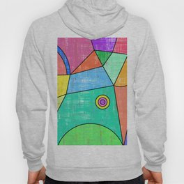 Colorful geometric abstract print, primary colors print Hoody
