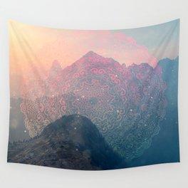 Mountain Scene Mandala Multicolor Wall Tapestry