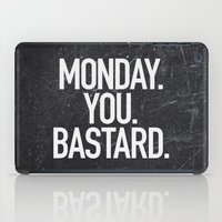 xbox iPad Cases featuring Monday You Bastard by Text Guy