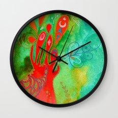 Surging From The Sea Of Dreaming Wall Clock