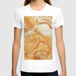 Brown Marble Stone Print T-shirt
