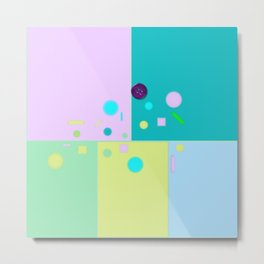 Play of colors Metal Print