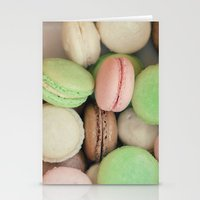 macaroons Stationery Cards featuring French Macaroons by Laura Ruth