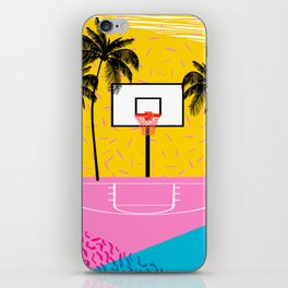 Dope - memphis retro vibes basketball sports athlete 80s throwback vintage style 1980's iPhone Skin