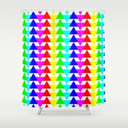 Triangalight-excite! Shower Curtain