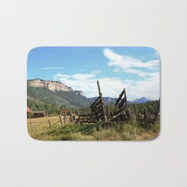 Time Weary Corral at the Haviland Lake Turnoff Bath Mat