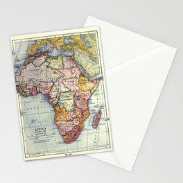 Vintage Africa Map (1921) Stationery Cards