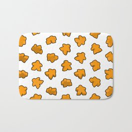 Golden Orange Meeple Mania Texture Bath Mat