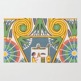 Vintage Pastel Tribal Geometric Floridian Egyptian Pattern Rug