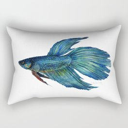 Mortimer the Betta Fish Rectangular Pillow