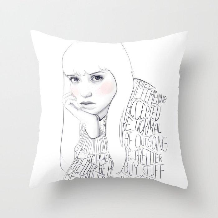 Society says Throw Pillow