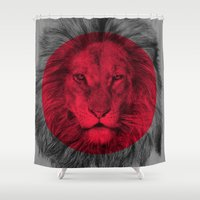 eric fan Shower Curtains featuring Wild 5 by Eric Fan & Garima Dhawan by Garima Dhawan