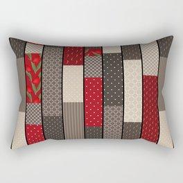 Country motifs . Classic quilting. Rectangular Pillow