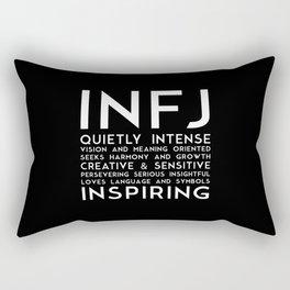 INFJ (black version) Rectangular Pillow