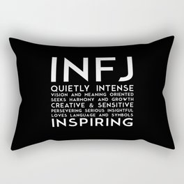 INFJ (black version) Rectangular Pillow