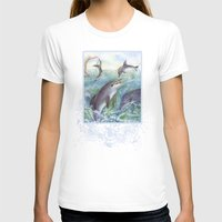 dolphins T-shirts featuring Dolphins by Natalie Berman