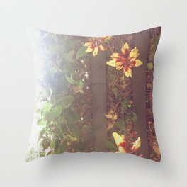 what is above or bellow Throw Pillow